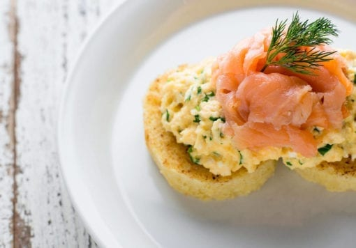 Salmon Eggs Breakfast - Langlands Brasserie