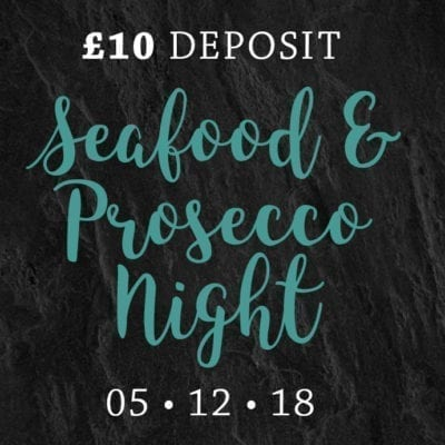 Seafood & Prosecco Night